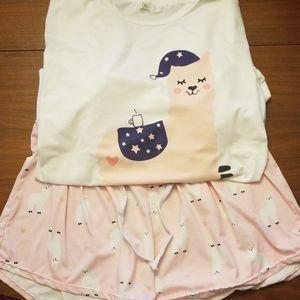 Pajama llama pajamas set